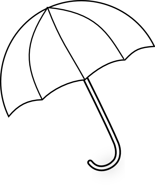 Line Drawing Umbrella : Umbrella clip art at clker vector online