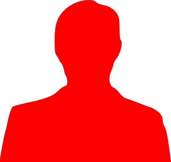 Red Person Outline Clip Art at Clker.com - vector clip art ...