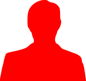 Red Person Outline Clip Art