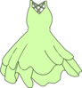 Pale Green Dress Clip Art