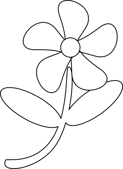 black white flower clip art at clkercom vector clip art