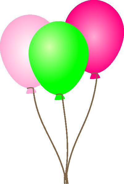 pink green balloons clip art at clker com vector clip art online rh clker com free balloon clip art images free balloon clipart to cut and paste