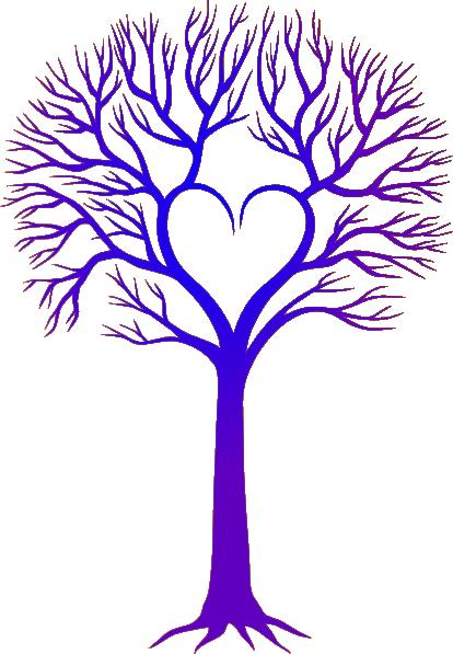 blue purple tree clip art at clker com vector clip art online rh clker com Family Tree Clip Art Tree Trunk Clip Art