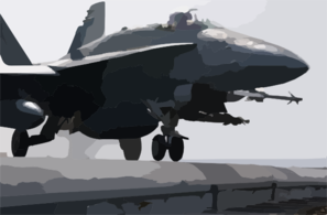 F/a-18 Launches On Combat Mission Clip Art