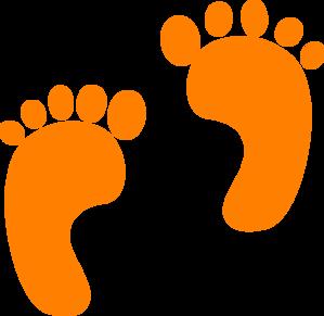 Orange Small Footprints Clip Art At Clkercom Vector
