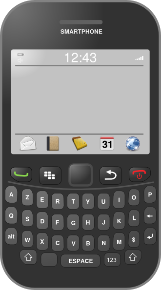 clipart for blackberry phone - photo #1