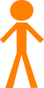 Infographic Orange Man Clip Art