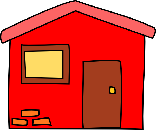 Red House Clip Art at Clker.com - vector clip art online, royalty free ...