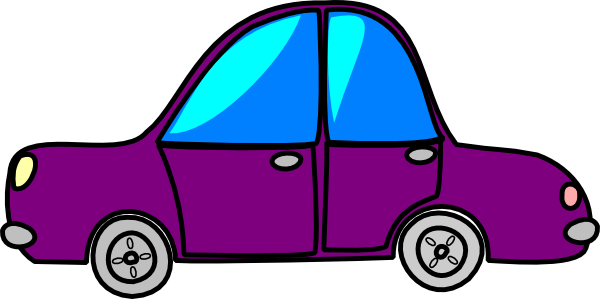 car purple cartoon transport clip art at clker com vector clip art rh clker com animated car crash clipart animated car pictures clip art