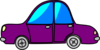 Car Purple Cartoon Transport Clip Art