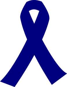 Dark Blue Cancer Ribbon Clip Art