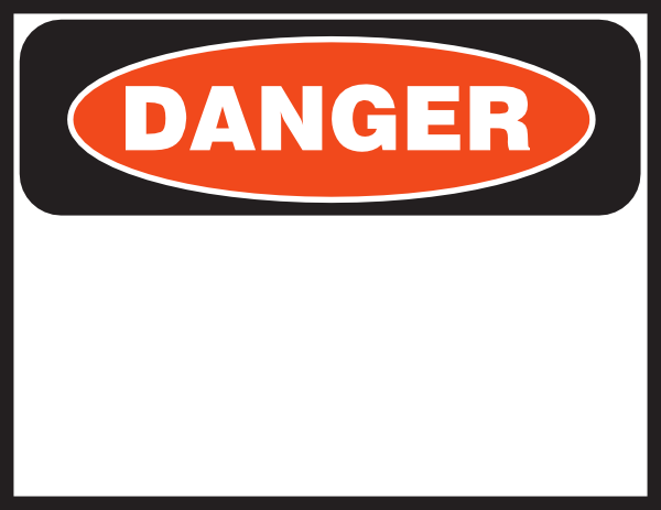 Danger Sign Clip Art at Clker.com - vector clip art online ...