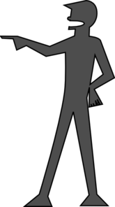 Man Pointing Clip Art