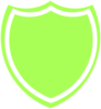 Shield Outline Green Clip Art