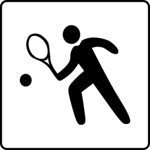 Hotel Icon Has Tennis Court Clip Art