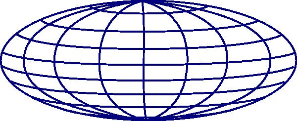 Dark Blue Wire Globe 2 Clip Art at Clker.com - vector clip art ...