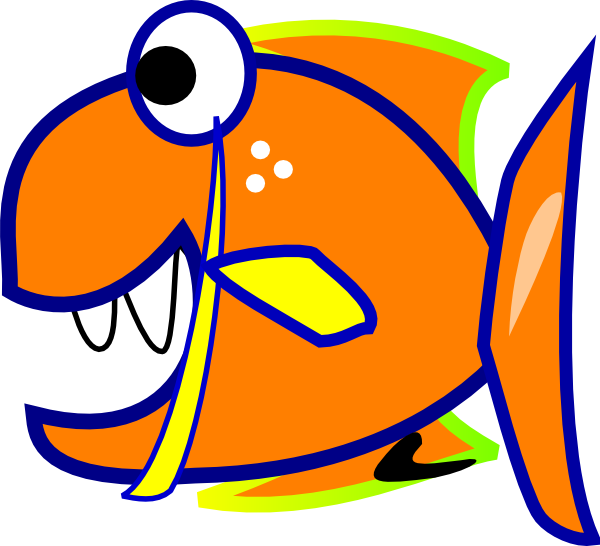 Orange Fish Clip Art a...