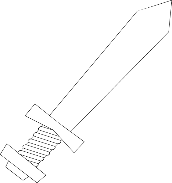 Black And White Sword Clip Art at Clker.com - vector clip ...