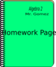 Homework Cover Page Clip Art