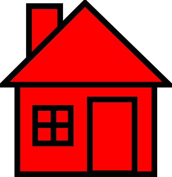 Red-black House Clipart Clip Art at Clker.com - vector clip art ...