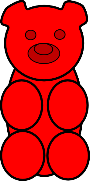 gummy bear clip art at clker com vector clip art online royalty rh clker com gummy bears clipart cute gummy bear clipart