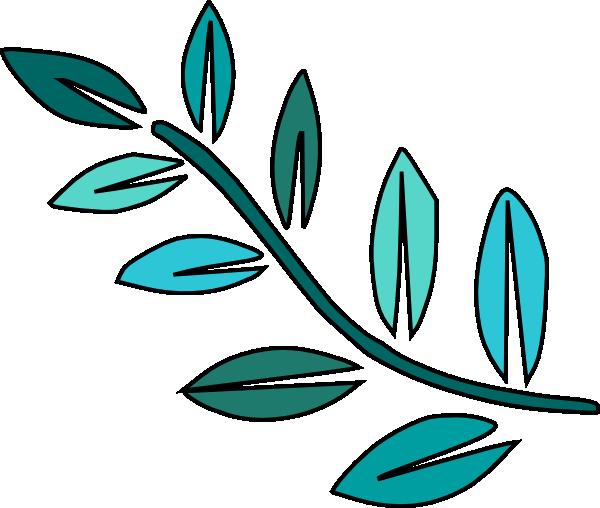 Teal Leaves Clip Art At Clker.com