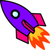 Rocket Purple Clip Art