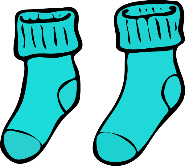 turquoise sock clip art at clker com vector clip art online rh clker com stock clip art socks clipart