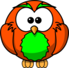Orange And Green Hoot  Clip Art