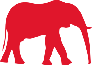 Red Elephant (old Glory Red) Clip Art