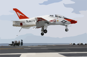 A T-45c Goshawk Comes In For A Land On The Flight Deck Aboard Uss John C. Stennis (cvn 74). Clip Art