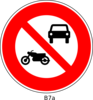 No Motorist Sign Clip Art