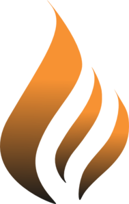 Orange Flame Logo Clip Art