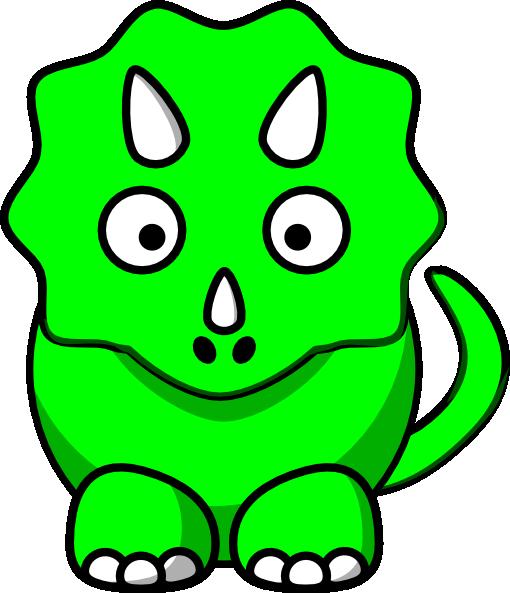 Green baby triceratops clip art at clker com vector clip art online