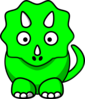 Green Baby Triceratops Clip Art