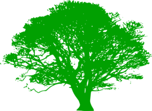 Green Tree Silhouette Clip Art