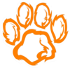 Tiger Paw White Orange  Clip Art