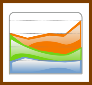 Chart With Boundary Clip Art