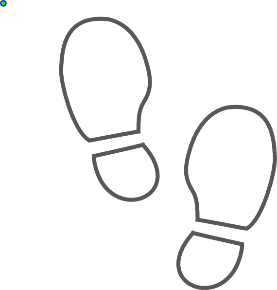 shoe print bw outline clip art at clkercom vector clip