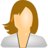 User Icon Female, White Clip Art