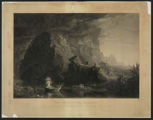 Voyage Of Life - Childhood From The Original Painting By Thomas Cole, In The Possession Of Rev D Gorham D. Abbott, Spingler Institute, New York / Painted By Thomas Cole ; Engraved By James Smillie. Image