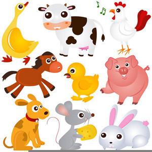 Free Cartoon Farm Animals Clipart   Free Images at Clker com