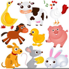 Free Cartoon Farm Animals Clipart Image