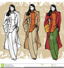 Vintage Fashion Model Clipart Image