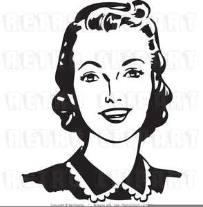 Free Retro Clipart Woman | Free Images at Clker com - vector