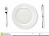 Plate Knife And Fork Clipart Image
