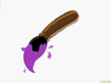 Paint Brush With Purple Paint Clip Art