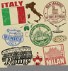 Travel Stamps Clipart Free Image