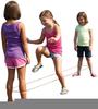 Girls Jumping Rope Clipart Image