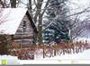 Snow Covered Cabin Clipart Image